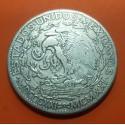 MEXICO 2 PESOS 1921 @RARA@ ANGEL ALADO KM.462 MONEDA DE PLATA MUY CIRCULADA Mejico silver coin ESTADOS UNIDOS MEXICANOS