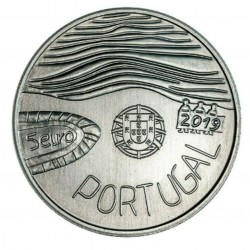 PORTUGAL 5 EUROS 2019 SALVEMOS EL MAR MONEDA DE NICKEL SC Tirada 40000 uds