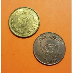 2 monedas x AFRICA DEL SUR @TIRA DE 2 MONEDAS@ 5 MILLIEMES 1976 FAO KM.60 LATON SC + 5 MILLIEMES 1972 KM.53 COBRE SC