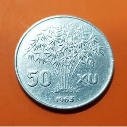 VIETNAM 50 XU 1963 PRESIDENTE República Socialista KM.6 MONEDA DE ALUMINIO MBC+ State of South Vietnam del Sur