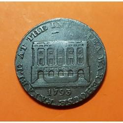 FRANCIA 10 CENTIMOS 1922-1930 TOULOUSE FICHA GUERRA MUNDIAL WWI
