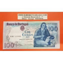 PORTUGAL 100 ESCUDOS 1981 MANUEL BARBOSA Pick 178B BILLETE MBC++ PVP NUEVO 18€