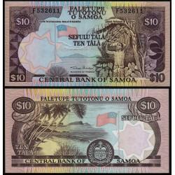 SAMOA 10 TALA 2002 PLAYA y RECOLECTA DEL PLATANO Pick 34A BILLETE SC Samoa & Sisifo UNC BANKNOTE