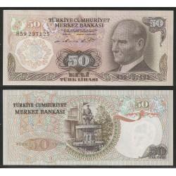TURQUIA 50 LIRAS 1970 Firma de 1976 MIMAR SINAN y FUENTE DE AGUA Pick 188A BILLETE SC Turkey UNC BANKNOTE