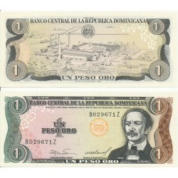 REPUBLICA DOMINICANA 1 PESO DE ORO 1984 INDUSTRIA AZUCARERA Pick 126A Firma 2 BILLETE SC Dominican Republic UNC BANKNOTE