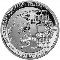 ALEMANIA 10 EUROS 2003 Ceca G PLATA GOTTFRIED SEMPER SC SILVER