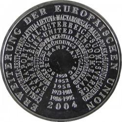 ALEMANIA 10 EUROS 2004 Ceca G MONEDA DE PLATA SC SILVER EURO COIN AMPLIACION DE LA UNION EUROPEA KM.231