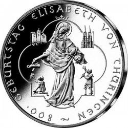 ALEMANIA 10 EUROS 2007 Ceca A PLATA ISABEL DE THURINGEN SC SILVE