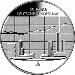 GERMANY 10 EUROS 2007 Ceca J SILVER UNC CENTRAL BANK