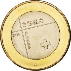 ESLOVENIA 3 EUROS 2016 ANIVERSARIO DE LA CRUZ ROJA BIMETALICA SC MONEDA CONMEMORATIVA COIN SLOVENIA