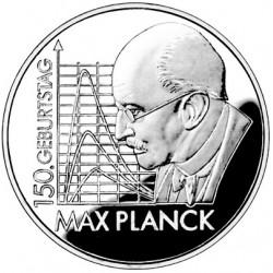 ALEMANIA 10 EUROS 2008 Ceca F PLATA MAX PLANCK SC SILVER