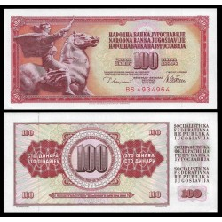 YUGOSLAVIA 100 DINARA 1978 GUERRERO MONTADO A CABALLO Pick 90A BILLETE SC BANKNOTE UNC