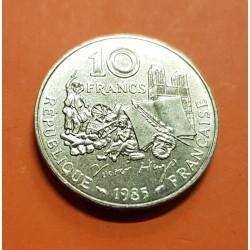 FRANCIA 10 FRANCOS 1985 VICTOR HUGO KM.956 MONEDA DE LATON @LUJO@ France 10 Francs