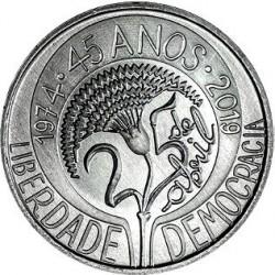 PORTUGAL 5 EUROS 2019 LIBERTAD y DEMOCRACIA 3ª MONEDA DE NICKEL SC Tirada 40000 uds