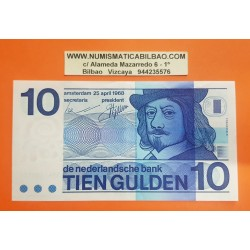 HOLANDA 10 GULDEN 1968 FRANS HALS Serie 5741609724 Pick 91B BILLETE EBC The Netherlands Pays Bas Tien Gulden