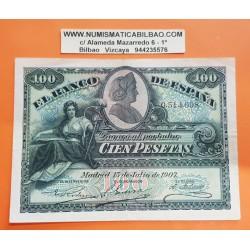 @RARO@ ESPAÑA 100 PESETAS 1907 LA GIRALDA Sin Serie 0514098 Pick 64A MBC++ Spain banknote