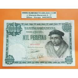 ESPAÑA 1000 PESETAS 1946 LUIS VIVES Sin Serie 3018669 Pick 133 BILLETE MBC- @RARO@ Spain banknote