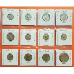 12 monedas x BRASIL 2 CRUCEIROS y 20+50 CENTAVOS y 100+200+300+400+500 REIS 1939/1945 EPOCA III REICH NAZI WWII