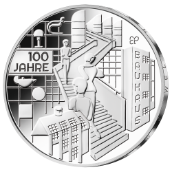 ALEMANIA 20 EUROS 2019 Letra J MOVIMIENTO ARTISTICO BAUHAUS SC MONEDA DE PLATA Germany BRD euro coin