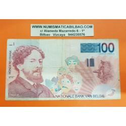 BELGICA 100 FRANCOS 1995 JAMES ENSOR Pick 147 Firma 5 BILLETE CIRCULADO Belgium PVP NUEVO 23€
