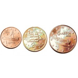 1+2+5 CENTIMOS FINLANDIA 2000 COBRE SC FINNLAND EUROS