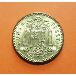 ESPAÑA 1 PESETA 1963 * 19 64 FRANCISCO FRANCO y AGUILA KM.775 MONEDA DE LATON SC Estado Español
