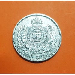 .BRASIL 200 REIS 1868 PEDRO II PLATA EBC+ KM 471 BRAZIL