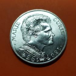 FRANCIA 100 FRANCOS 1984 MARIE CURIE PREMIO NOBEL KM.955B MONEDA DE PLATA SC France 100 Francs silver