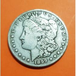 ESTADOS UNIDOS 1 DOLAR 1899 S MORGAN KM.110 MONEDA DE PLATA MBC @ESCASA@ USA Silver $1 Dollar Coin