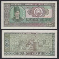 RUMANIA 25 LEI 1966 REPUBLICA SOCIALISTA DE ROMANIA REFINERIA Pick 95 BILLETE SC Romania UNC BANKNOTE