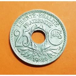 .FRANCIA 25 CENTIMOS 1926 Tipo LINDAUER KM.867A MONEDA DE NICKEL SC- France 25 Centimes