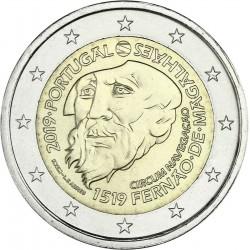 PORTUGAL 2 EUROS 2019 FERNANDO DE MAGALLANES 500 AÑOS DE LA VUELTA AL MUNDO EN BARCO SC 1ª MONEDA CONMEMORATIVA 2€ coin