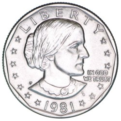 ESTADOS UNIDOS 1 DOLAR 1991 P SUSAN B. ANTHONY AGUILA SOBRE LA LUNA KM.207 MONEDA DE NICKEL SC USA 1 Dollar