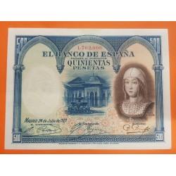 500 PESETAS 1927 REINA ISABEL Sin Serie 1762008 Pick 73C BILLETE PRECIOSO @SOMBRAS y AGUJERITO@ España Spain banknote