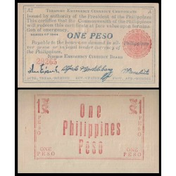 FILIPINAS 1 PESO 1944 NEGROS A3 EMERGENCY CURRENCY BOARD 2ª Guerra Mundial Pick S668 BILLETE SC Philippines
