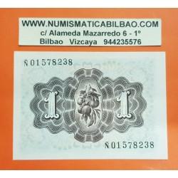 @MUY RARA SERIE Ñ@ ESPAÑA 1 PESETA 1948 DAMA DE ELCHE Serie Ñ 01578238 Pick 135 BILLETE SC SIN CIRCULAR Spain