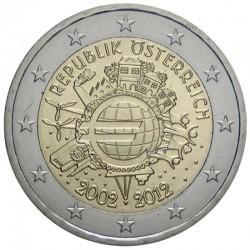 AUSTRIA 2 EUROS 2002 SIN CIRCULAR OSTERREICH 2€ MONEDA COIN