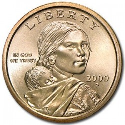 USA 1 DOLLAR SACAGAWEA 2000 P UNC BRASS