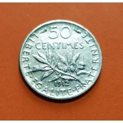 .FRANCIA 50 CENTIMOS 1910 SEMEUSE PLATA SC- SILVER FRANCE