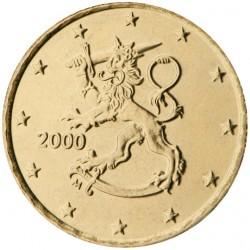 FINLANDIA 10 CENTIMOS 2000 LEON MONEDA DE LATON SC Finnland 10 Cts Euro coin