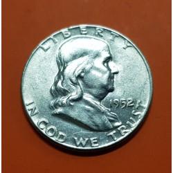 ESTADOS UNIDOS 1/2 DOLAR 1952 P BENJAMIN FRANKLIN KM.163 MONEDA DE PLATA EBC @ESCASA@ USA Half Dollar silver coin