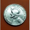 PANAMA 1/4 BALBOA 1947 VASCO NUÑEZ DE BALBOA KM.11.1 MONEDA DE PLATA MBC+ @ESCASA@ SILVER COIN CUARTO
