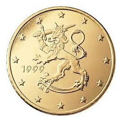 FINLANDIA 10 CENTIMOS 1999 LEON MONEDA DE LATON SC Finnland 10 Cent Euro coin