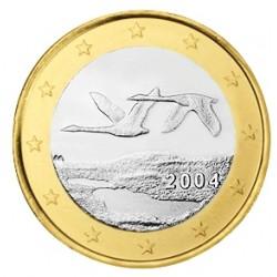 FINLANDIA 1 EURO 2004 PAJAROS EN VUELO MONEDA BIMETALICA SC Finnland 1 Euro coin