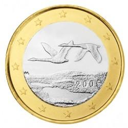 FINLANDIA 1 EURO 2005 PAJAROS EN VUELO MONEDA BIMETALICA SC Finnland 1 Euro coin