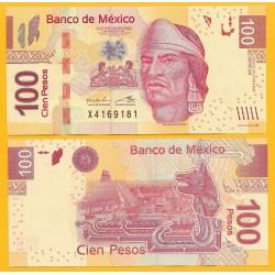 MEXICO 100 PESOS 2013 PIRAMIDE AZTECA y NEZAHUALCOYOTL Pick 124 BILLETE SC @ESCASO@ Mejico UNC BANKNOTE