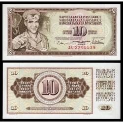 YUGOSLAVIA 10 DINARA 1978 OBRERO DEL ACERO Pick 87A BILLETE SC 10 Dinar UNC BANKNOTE