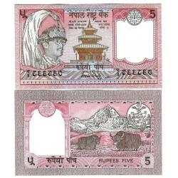 . NEPAL 5 RUPIAS 1987 YAK Pick 30A SC BILLETE RUPPES