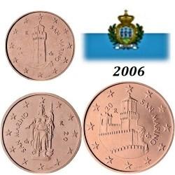 1+2+5 CENTIMOS EURO SAN MARINO 2006 COBRE SIN CIRCULAR UNC