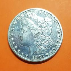 ESTADOS UNIDOS 1 DOLAR 1882 MORGAN KM.110 MONEDA DE PLATA MBC USA @LIMPIADA@ Silver $1 Dollar Coin 2